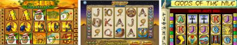 The 3 top Nile and Desert Themed Slots on the net!