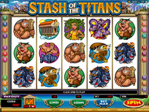 Stash of the Titans new at Microgaming Casinos in August