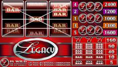 Legacy Microgaming 3-reel Slot - a $60,000 Jackpot and great multipliers